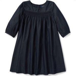 NWT POLO RALPH LAUREN Navy Blue Embroidered Dress